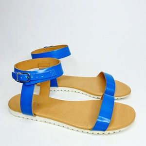 J.Crew Abbot Glossy Leather Sandals